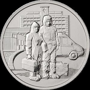 Россия :: Новая Россия памятные :: 25 руб Памятные :: 25 рублей 2020 Медицинские работники